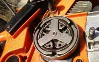 Устройство и ремонт, снятие сцепления бензопилы