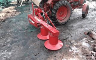 Косилки для трактора — конструкция и принцип действия, виды