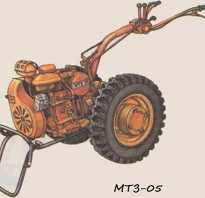 Мотоблок МТЗ 05: технические характеристики