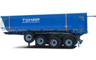 Технические характеристики, фото и видео самосвалов Тонар: прицепы, полуприцепы и карьерные модели