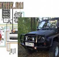 Схема электрооборудования УАЗ-3151, назначение предохранителей