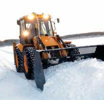 Как можно использовать трактор для уборки снега?