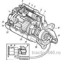 Стартер трактора Т-40 принцип работы и ремонт
