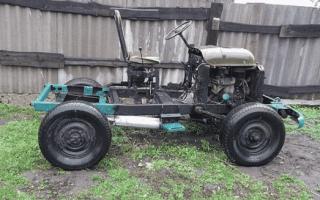 Самодельный трактор из УАЗа