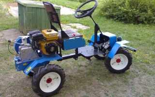 Как сделать своими руками мини-трактор из мотоблока Нева: чертежи и необходимые материалы