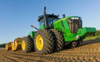 Компания John Deere представила скреперы вместе с тракторами