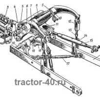 Навеска трактора Т-40 схема и регулировка