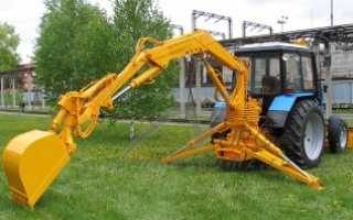 Самодельный погрузчик на заднюю навеску трактора МТЗ: материалы, инструменты, инструкция, чертежи