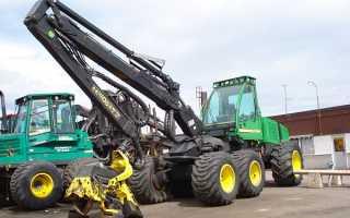 Гусеничные и колесные харвестеры John Deere: технические характеристики, фото и видео
