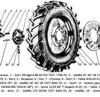 Задние колеса трактора Т-25