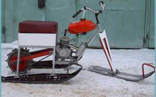 Как из бензопилы сделать снегоход – выбор двигателя, подготовка и пошаговая сборка