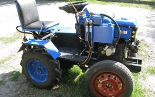 Трактор (минитрактор) из мотоблока — изготовление своими руками