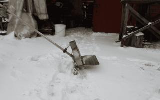 Снегоуборщик из триммера — чертеж, изготовление, эксплуатации