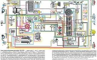 Схема электропроводки УАЗ 31519: Цветная