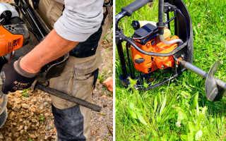 Мотобур для земляных работ: цена, технические особенности