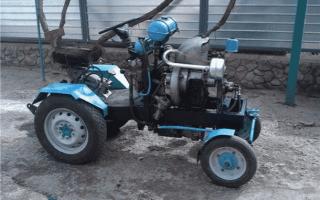 Трактор из Оки — изготовление своими руками, с двигателем от Оки