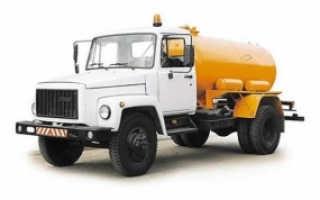 Ассенизаторские машины ГАЗ-53, ГАЗ-3307, ГАЗ-3309: характеристики, устройство, фото и видео