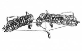 Колесно пальцевые грабли ворошилки ГВК-6: модификации, технические характеристики, устройство