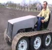 Самодельный гусеничный трактор, как спланировать его сборку?