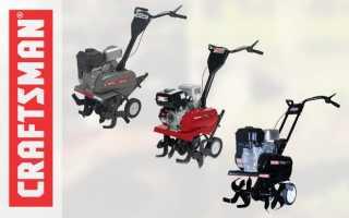 Технические характеристики культиваторов Крафтсман (Craftsman): 29802, 98691, 29901, 98694, 29932, 29701