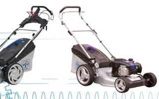 Электрические и бензиновые газонокосилки Lux Tools: характеристики, особенности, фото