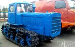Массовый советский трактор ДТ-75 на гусеничном ходу